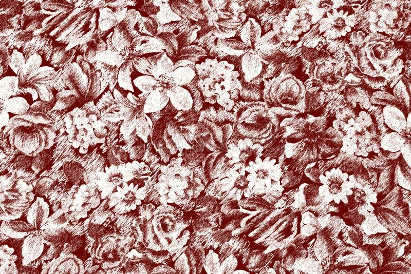 Carta da parati con i fiori illustrazione di stock for Carta parati fiori