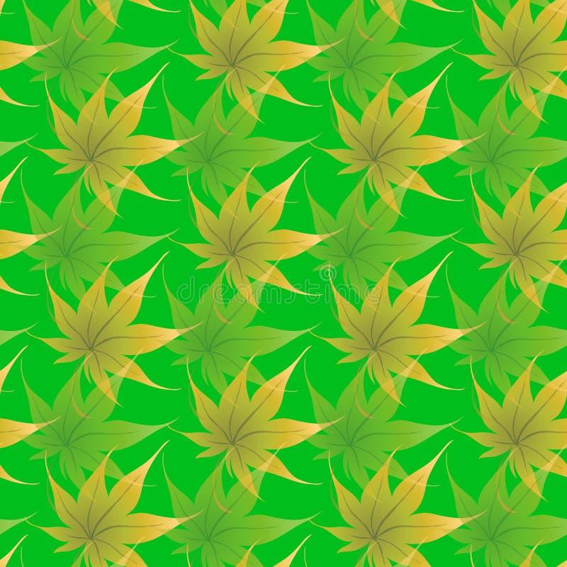 Carta da parati con i fogli d'arricciatura di una pianta royalty illustrazione gratis