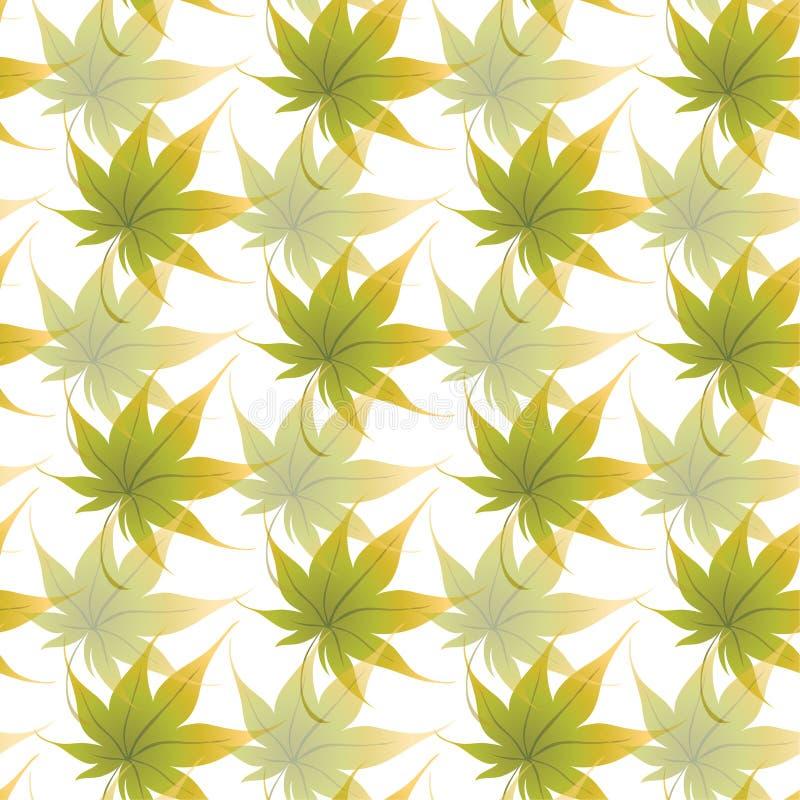 Carta da parati con le foglie d'arricciatura di una pianta royalty illustrazione gratis