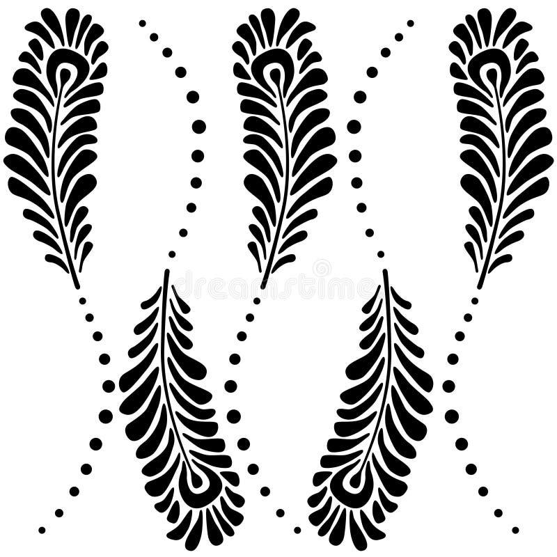 Carta da parati con le piume del pavone carta da parati decorativa astratta illustrazione - Carta da parati decorativa ...