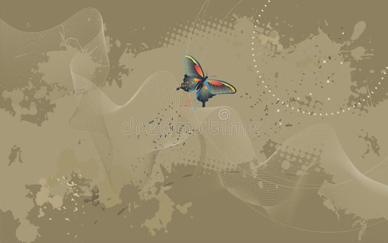 Carta da parati da tavolino - fondo con la farfalla illustrazione di stock