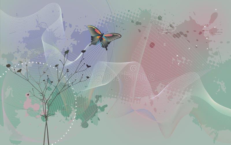 Carta da parati da tavolino - fondo con la farfalla royalty illustrazione gratis
