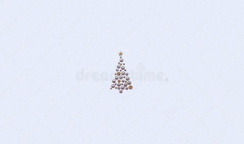 Carta da parati decorata dell'albero di Natale Fondo di vacanza invernale Motivo di natale fotografia stock