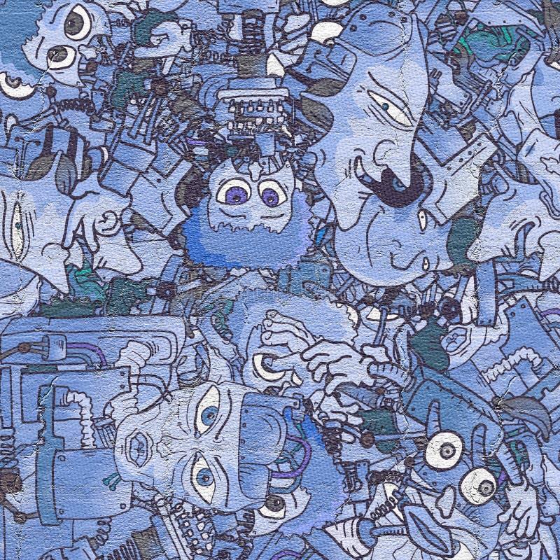 Carta da parati del blu di arte immagine stock libera da diritti