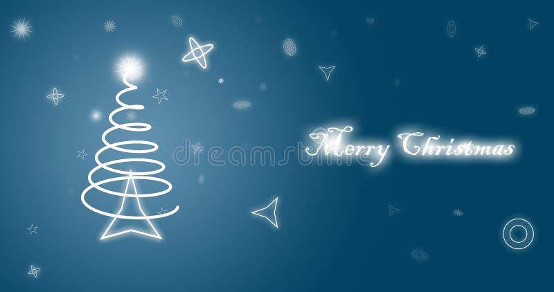 Carta da parati del blu di Buon Natale royalty illustrazione gratis