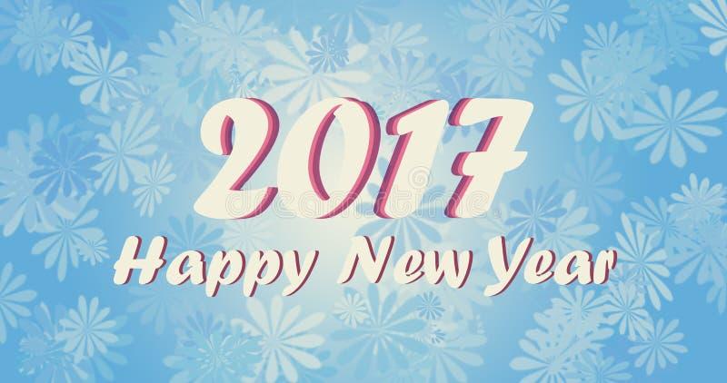 Carta da parati del buon anno 2017 illustrazione di stock