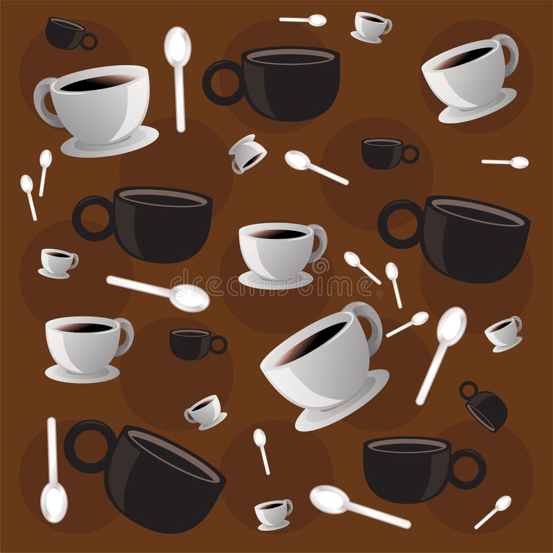 Carta da parati del caffè illustrazione di stock