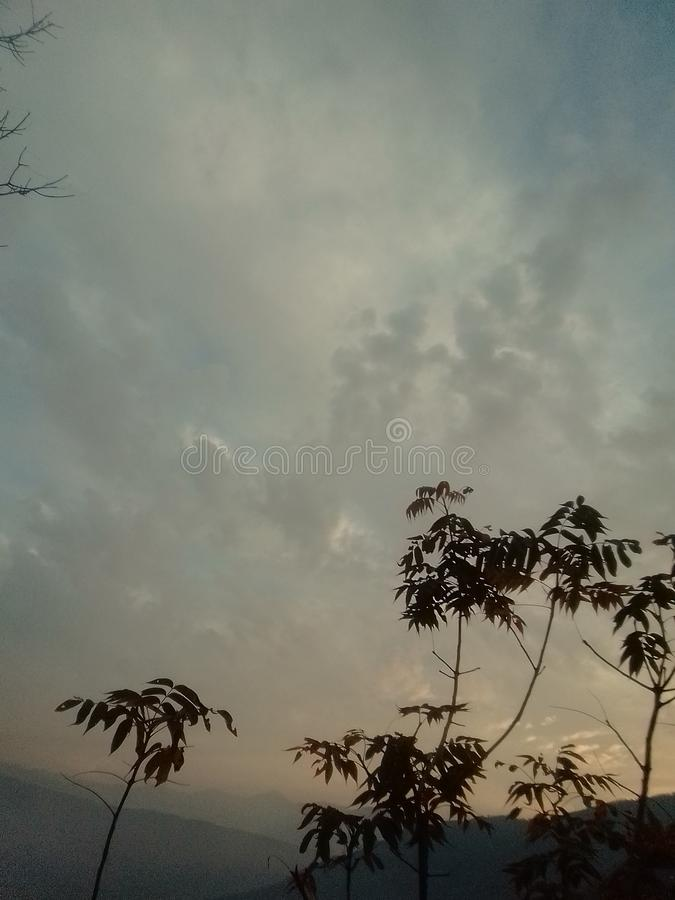 carta da parati del cielo nuvoloso fotografia stock