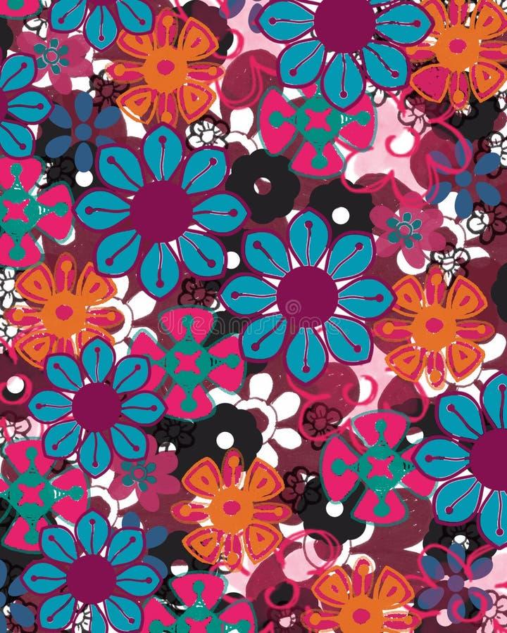 Carta da parati del fiore illustrazione di stock for Carta da parati colorata