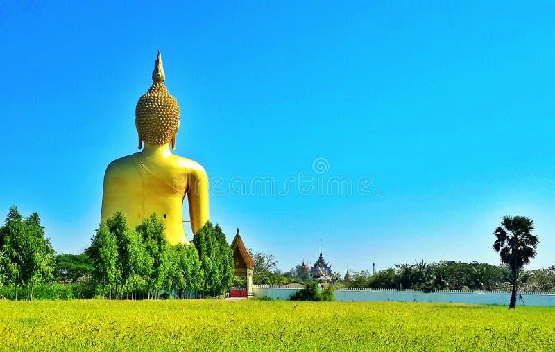 carta da parati del fondo di religione di viaggio del vecchio tempio del tempio della statua di Buddha del asiastyle bella è un s fotografia stock libera da diritti