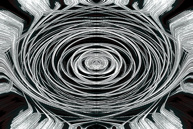 Carta da parati del grafico dell'estratto di arte Mystical illustrazione vettoriale