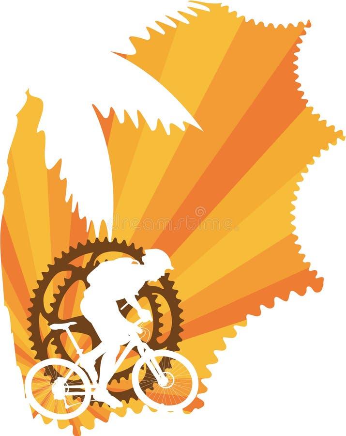 Carta da parati della bici di montagna royalty illustrazione gratis