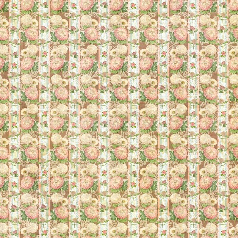 Carta da parati della carta di progettazione del modello di fiore illustrazione vettoriale