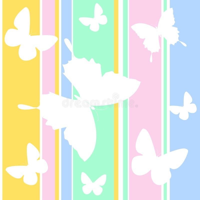 Carta da parati della farfalla illustrazione di stock