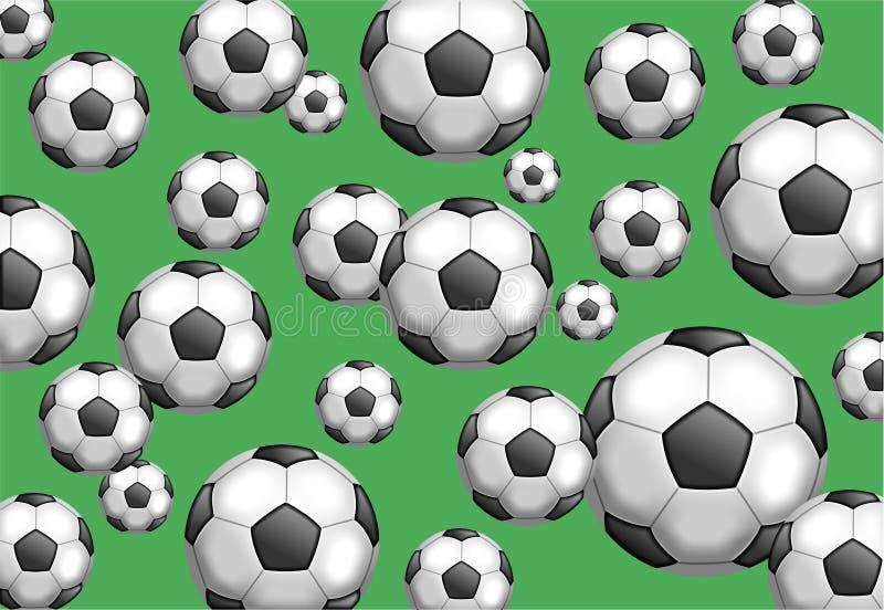 Carta da parati di calcio illustrazione vettoriale