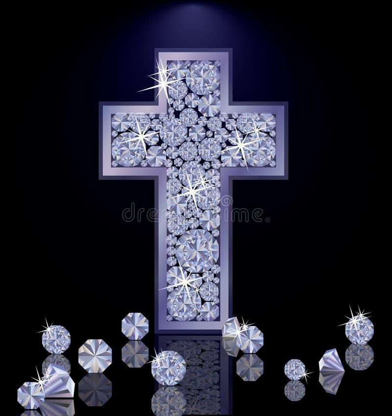 Carta da parati di Diamond Cross, vettore royalty illustrazione gratis