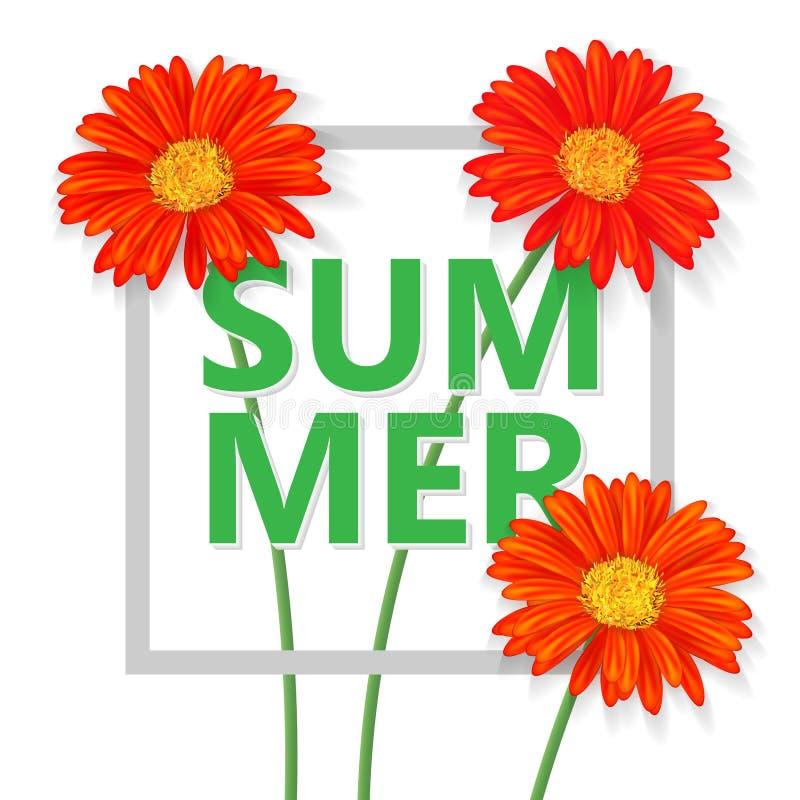 Carta da parati di estate, fondo di vettore, manifesto illustrazione di stock