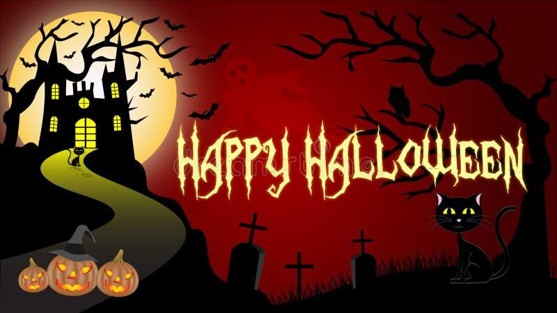 Carta da parati di Halloween illustrazione di stock
