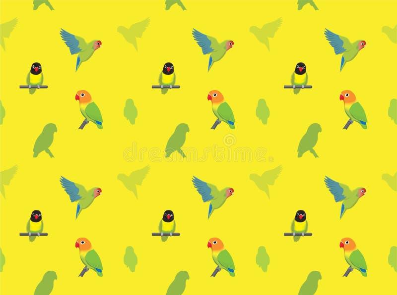 Carta da parati di piccioncini del pappagallo illustrazione di stock