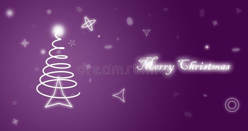 Carta da parati di porpora di Buon Natale illustrazione di stock