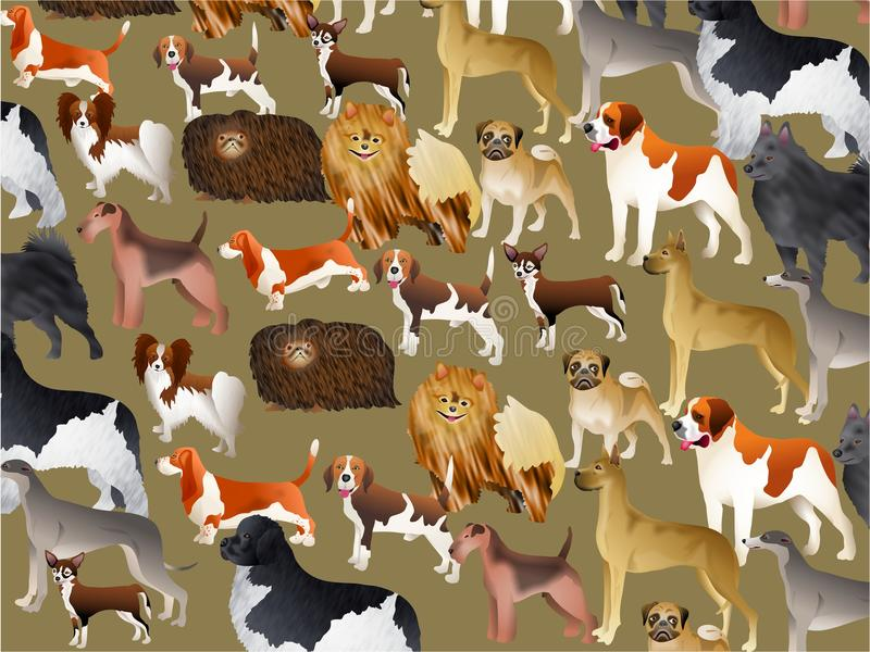 Carta da parati di razza del cane illustrazione di stock