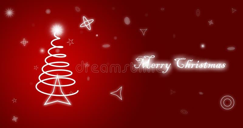 Carta da parati di rosso di Buon Natale illustrazione di stock