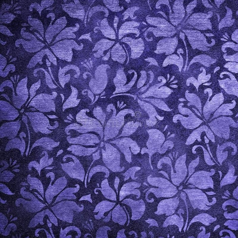 Carta da parati floreale blu immagine stock immagine di for Carta parati blu