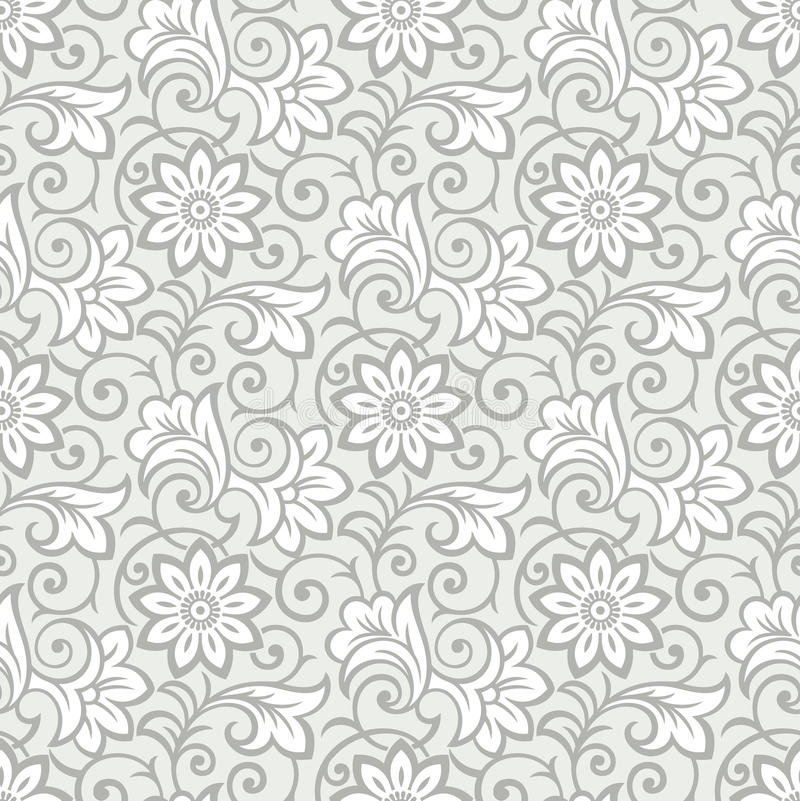 Carta da parati floreale senza cuciture lussuosa illustrazione vettoriale