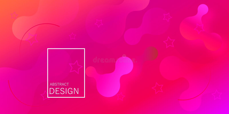 Carta da parati geometrica La pendenza fluida modella la composizione illustrazione vettoriale
