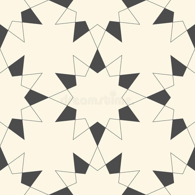 Carta da parati geometrica senza giunte Priorit? bassa futuristica astratta royalty illustrazione gratis