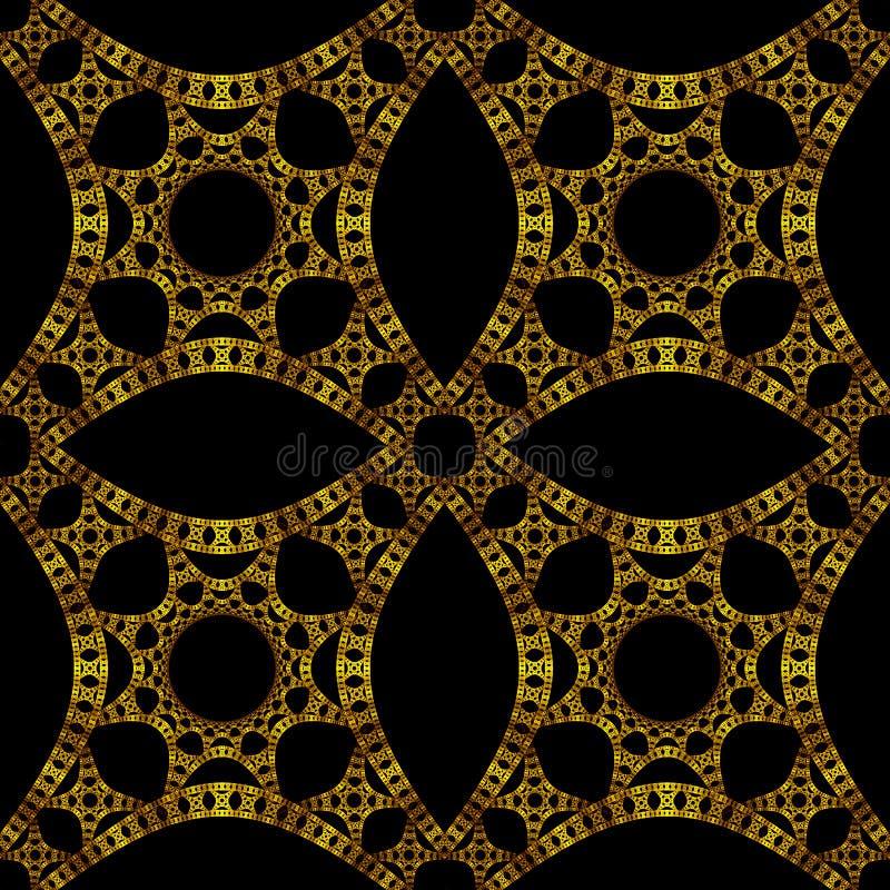 Carta da parati gotica dell 39 oro illustrazione di stock for Carta da parati oro