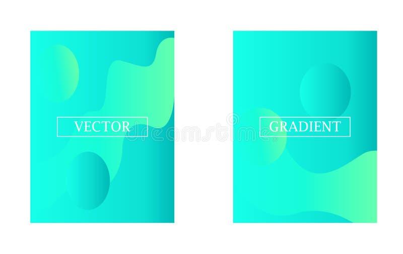 Carta da parati moderna due con gli elementi grafici di pendenza - cerchi e correnti royalty illustrazione gratis