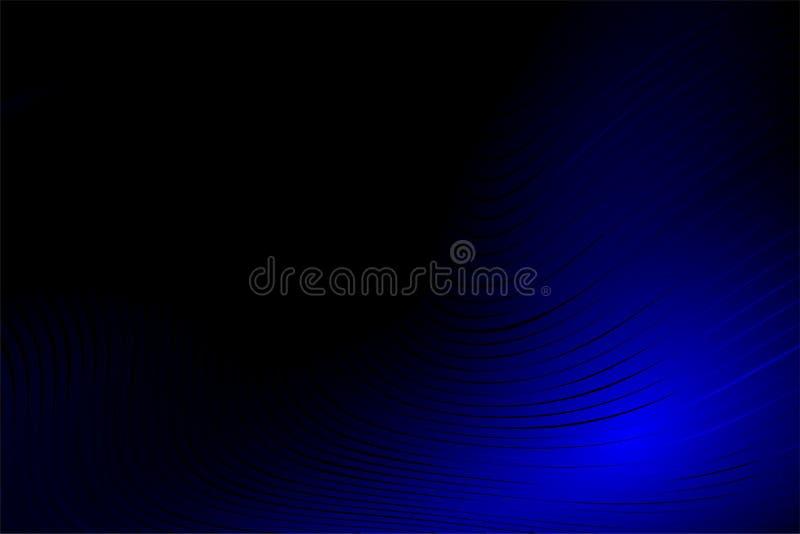 Carta da parati ondulata del fondo protetta blu di vettore dell'estratto illustrazione viva di vettore di colore illustrazione vettoriale