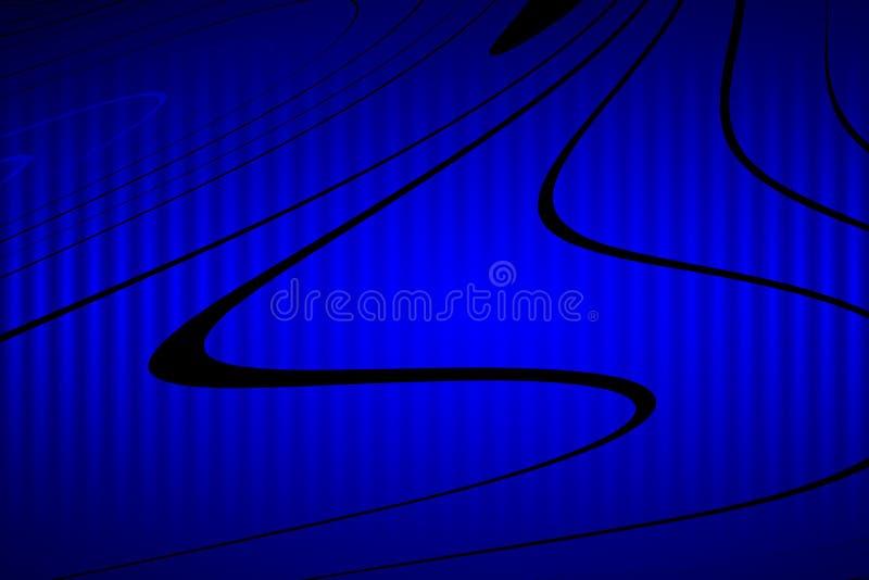 Carta da parati ondulata del fondo protetta blu di vettore dell'estratto illustrazione viva di vettore di colore illustrazione di stock