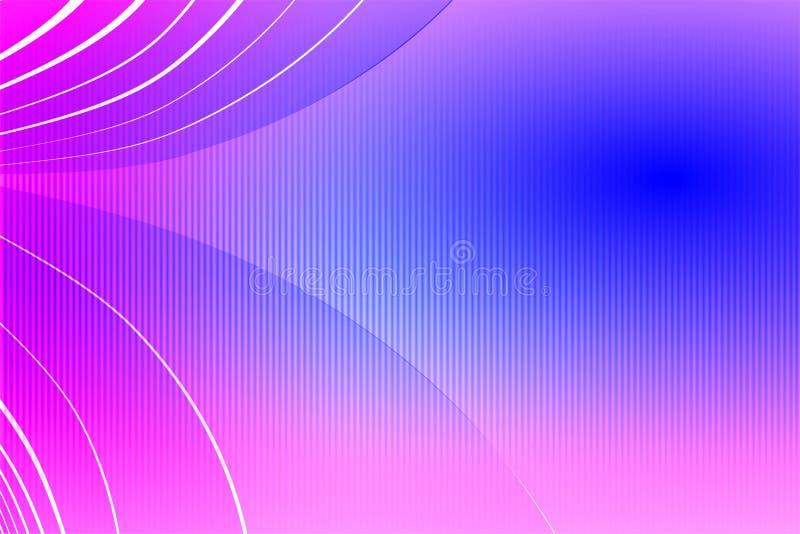 Carta da parati ondulata del fondo protetta rosa di vettore dell'estratto illustrazione viva di vettore di colore illustrazione di stock
