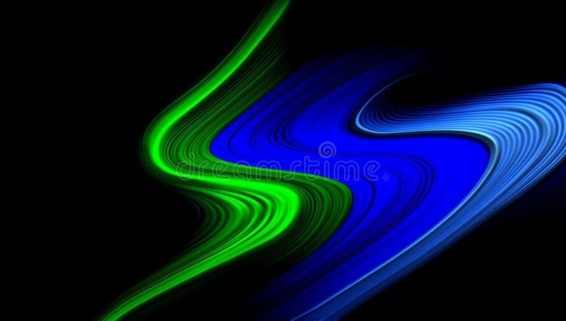 Carta da parati ondulata del fondo protetta vettore astratto multicolore illustrazione viva di vettore di colore illustrazione di stock
