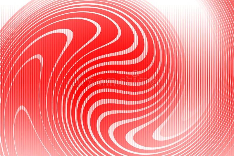 Carta da parati ondulata protetta rossa del fondo di vettore dell'estratto illustrazione viva di vettore di colore illustrazione vettoriale