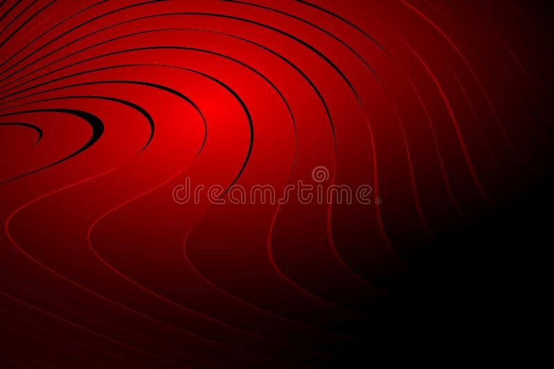 Carta da parati ondulata protetta rossa del fondo di vettore dell'estratto illustrazione viva di vettore di colore illustrazione di stock