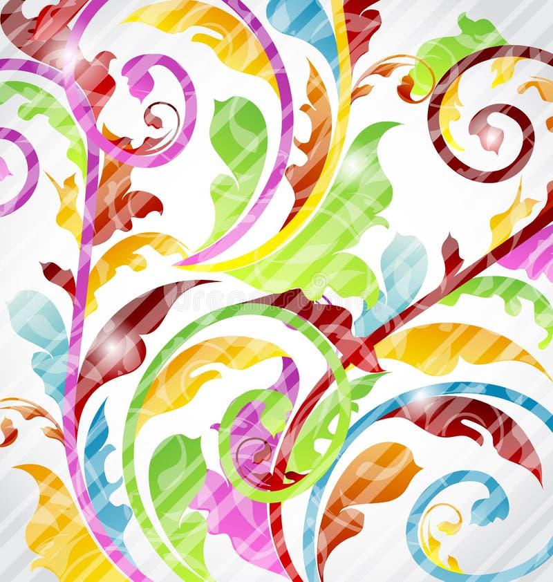 Carta da parati ornamentale multicolore astratta royalty illustrazione gratis