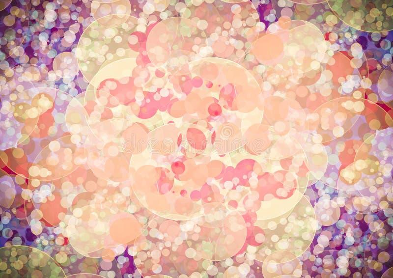 Carta da parati porpora rosa arancio astratta del bokeh di colore immagine stock