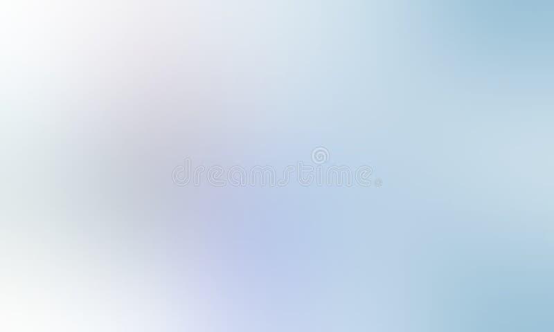 Carta da parati protetta bianca e dell'azzurro di colore pastello della sfuocatura del fondo illustrazione vettoriale