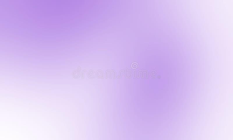 Carta da parati protetta bianca e di porpora di colore pastello della sfuocatura del fondo illustrazione vettoriale