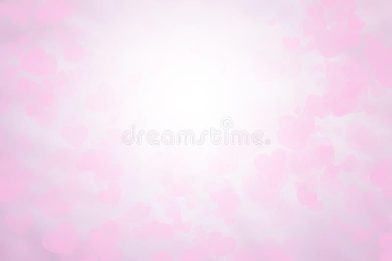 Carta da parati rosa e bianca della carta del biglietto di S. Valentino vago del fondo Colori dolci e colore pastello fotografia stock libera da diritti