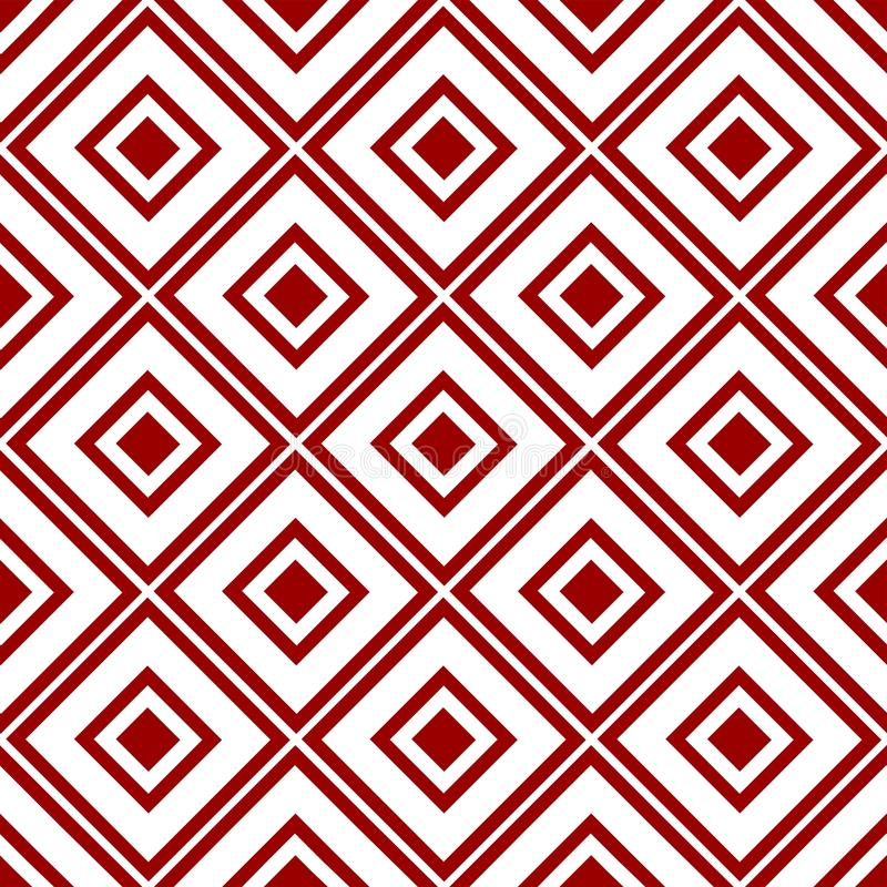 Carta da parati rossa trasparente cinese araba d'annata reale senza cuciture floreale orientale ornamentale astratta di struttura royalty illustrazione gratis
