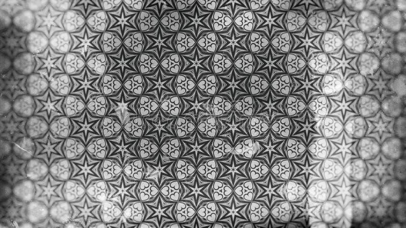 Carta da parati scura di Gray Vintage Decorative Floral Pattern royalty illustrazione gratis
