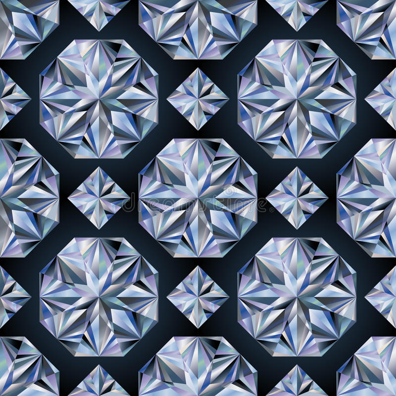 Carta da parati senza cuciture di pietra del diamante, vettore illustrazione vettoriale