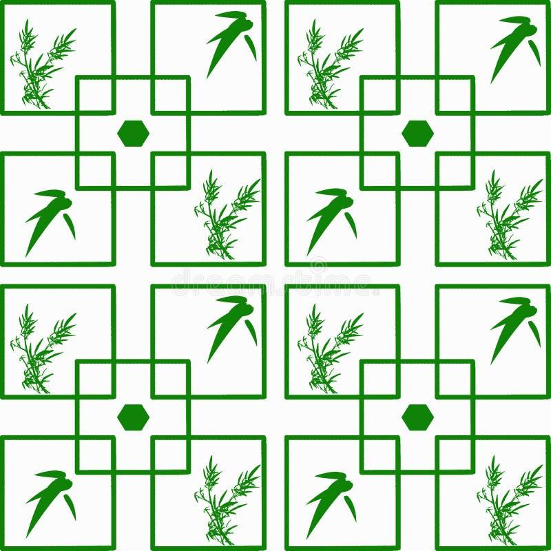 Carta da parati senza giunte dei fogli di bambù illustrazione vettoriale