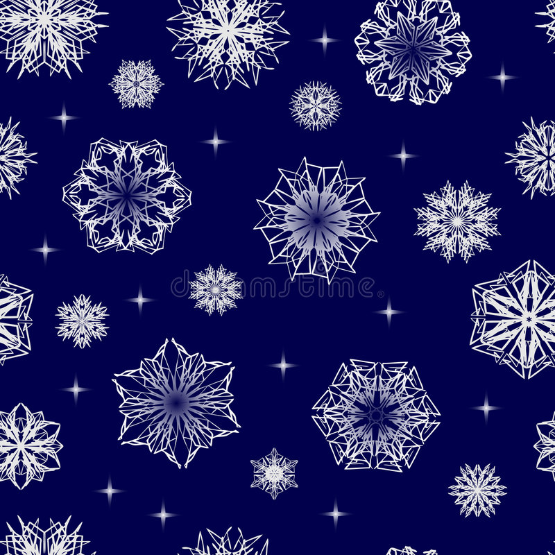 Carta da parati senza giunte del fiocco di neve royalty illustrazione gratis