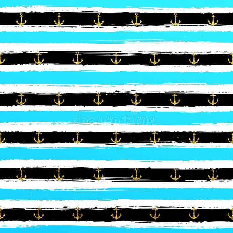 Carta da parati a strisce dell 39 oro di scintillio il for Carta da parati oro