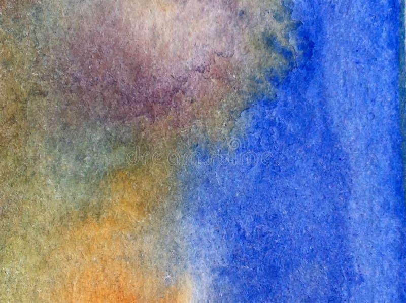 Carta da parati vaga luminosa della macchia di straripamento della mano strutturata della decorazione dell'acqua della costa di m immagini stock